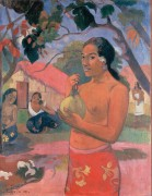 Женщина, держащая плод - Гоген, Поль