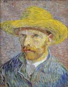 Автопортрет в соломенной шляпе (Self Portrait with Straw Hat), 1887-88 - Гог, Винсент ван