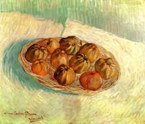 Натюрморт с корзиной яблок. Для Люсьена Писсарро (Still Life with Basket of Apples (to Lucien Pissarro)), 1887 - Гог, Винсент ван