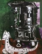 Буфет в Вовенарге (Буфет Генри II с собакой и креслом), 1959 - Пикассо, Пабло