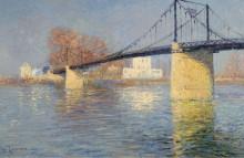 Подвесной мост в Триэль-сюр-Сен, 1917 - Луазо, Гюстав