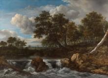 Пейзаж с водопадом - Рейсдал, Якоб Исаак