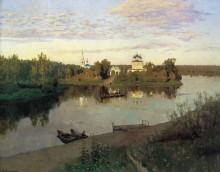 Вечерний звон. 1892 (Монастырь под праздник) - Левитан, Исаак Ильич