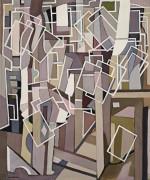 Абстрактная композиция с белыми прямоугольниками - Лемпицка, Тамара