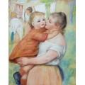 Мать с ребенком - Ренуар, Пьер Огюст