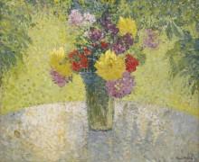 Букет цветов на столе - Мартен, Анри Жан Гийом