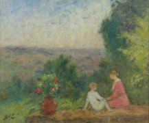 Пейзаж с матерью и ребенком - д'Эспанья, Жорж