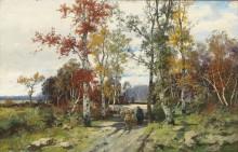 Ранняя весна, пейзаж в Оверни - Кауфман, Адольф