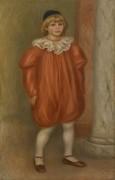 Клод Ренуар в костюме клоуна - Ренуар, Пьер Огюст