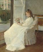 Сестра художницы у окна - Моризо, Берта