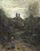 Крестьяне, возрвращающиеся из церкви - Коро, Жан-Батист Камиль