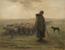 Пастушка - Милле, Жан-Франсуа