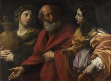 Лот и его дочери оставив Содом - Рени, Гвидо