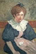 Девушка с  синей лентой, 1900 - д'Эспанья, Жорж