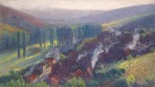 Вид Лабасти-дю-Вер с террасы Maркиьроль летним утром - Мартен, Анри Жан Гийом