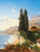 Пейзаж в Монако близ Ниццы - Циммерман, Альберт Август