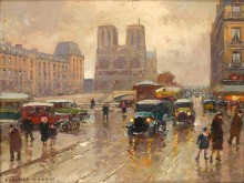 Вид на собор Парижской Богоматери - Кортес, Эдуард