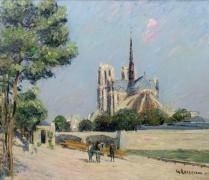 Вид на Собор Парижской Богоматери и Турнельский мост - Луазо, Гюстав