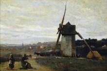 Ветряная мельница в Этрета - Коро, Жан-Батист Камиль
