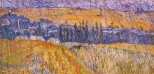 Пейзаж в Овере в дождь - Гог, Винсент ван
