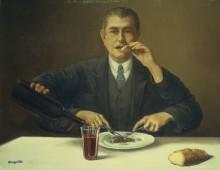 Фокусник (Автопортрет с четырьмя руками) - Магритт, Рене