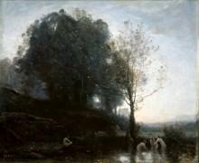 Нимфы, купающие ребенка - Коро, Жан-Батист Камиль