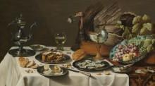 Натюрморт с пирогом -  Хеда, Виллем Клас