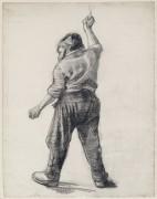 Стоящий мужчина, вид сзади (Standing Man Seen from the Back), 1886 - Гог, Винсент ван