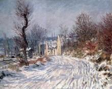 Зимний пейзаж с дорогой в Живерни - Моне, Клод