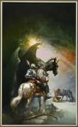 Святой Георгий и дракон - Вальехо, Борис (20 век)