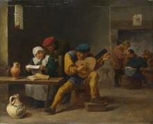 Крестьянин играет на музыкальном инструменте -  Тенирс, Давид