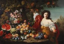 Натюрморт с фруктами и Помона - Брейгель, Абрахам