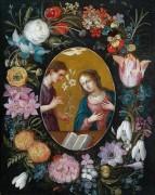 Благовещение в цветочной гирлянде - Брейгель, Ян (младший)