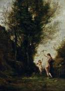 Нимфа, играющая с амуром - Коро, Жан-Батист Камиль