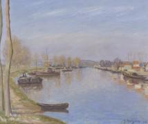 Берега Сены, 1907 - Манцана-Писсарро, Жорж