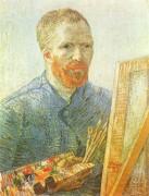 Автопортрет перед мольбертом - Гог, Винсент ван