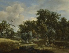 Ручей в лесу - Хоббема, Мейндерт