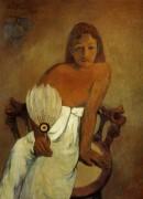Девушка с веером, 1902 - Гоген, Поль