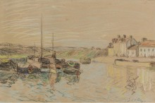 Канал Луана в Сант-Maммс, 1888 - Сислей, Альфред