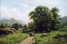 Швейцарскй пейзаж, 1866 - Шишкин, Иван Иванович