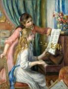 Две девушки за пианино - Ренуар, Пьер Огюст