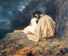Мужчина, сидящий на скале - Жерико, Теодор Жан Луи Андре