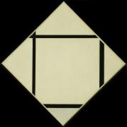 Серый ромб с четырьмя линиями - Мондриан, Пит