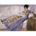 Мадам Моне на диване - Моне, Клод
