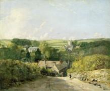 Вид на Осмингтон с церковью и домом священника - Констебль, Джон