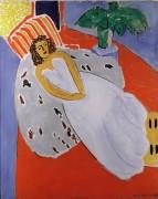 Женщина в белом на красном фоне - Матисс, Анри
