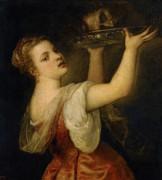 Саломея с головой Иоанна Крестителя - Тициан Вечеллио