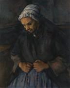 Старушка с четками - Сезанн, Поль