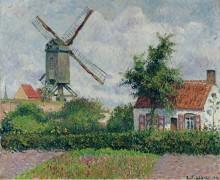 Ветряная мельница в Кнокке, 1894 - Писсарро, Камиль