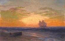Парусный корабль, плывущий от берега - Айвазовский, Иван Константинович